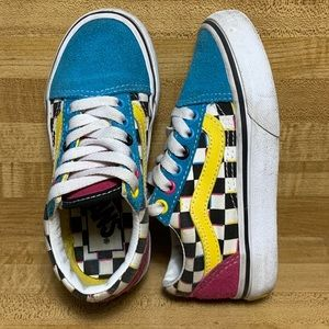 Vans kids size 11 crazy colorblock 721454 lace up